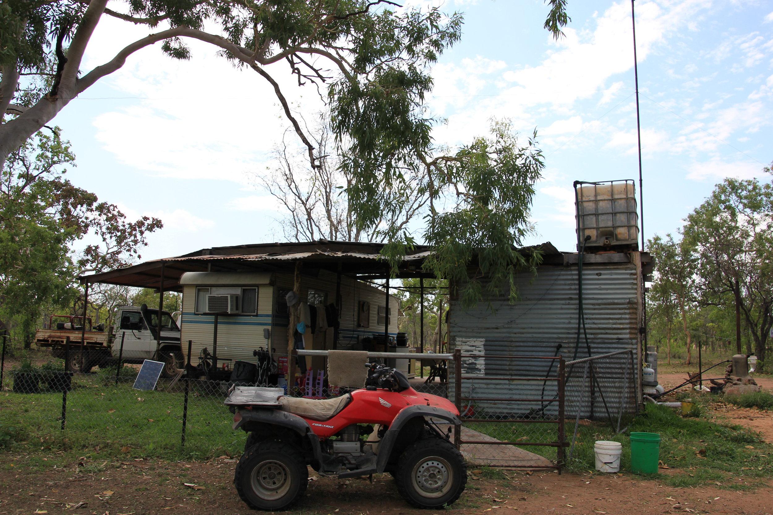 Lisa and Cameron's camp at Lorella Springs,image supplied.