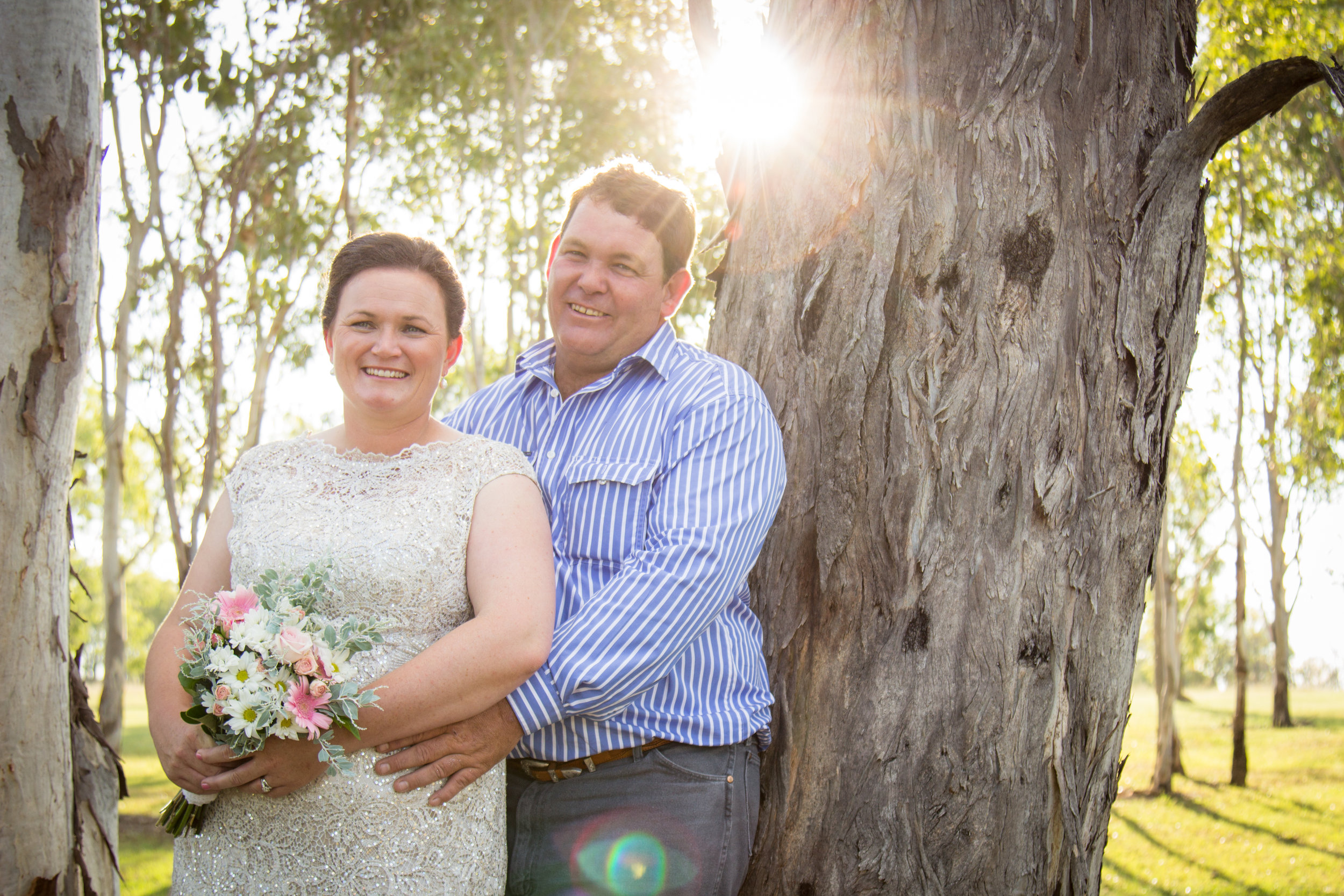 Lisa met Cameron while working with him at Anthony Lagoon station, and they married in 2016 at Boondooma Homestead, image supplied, photographer:Lynette Vicary.