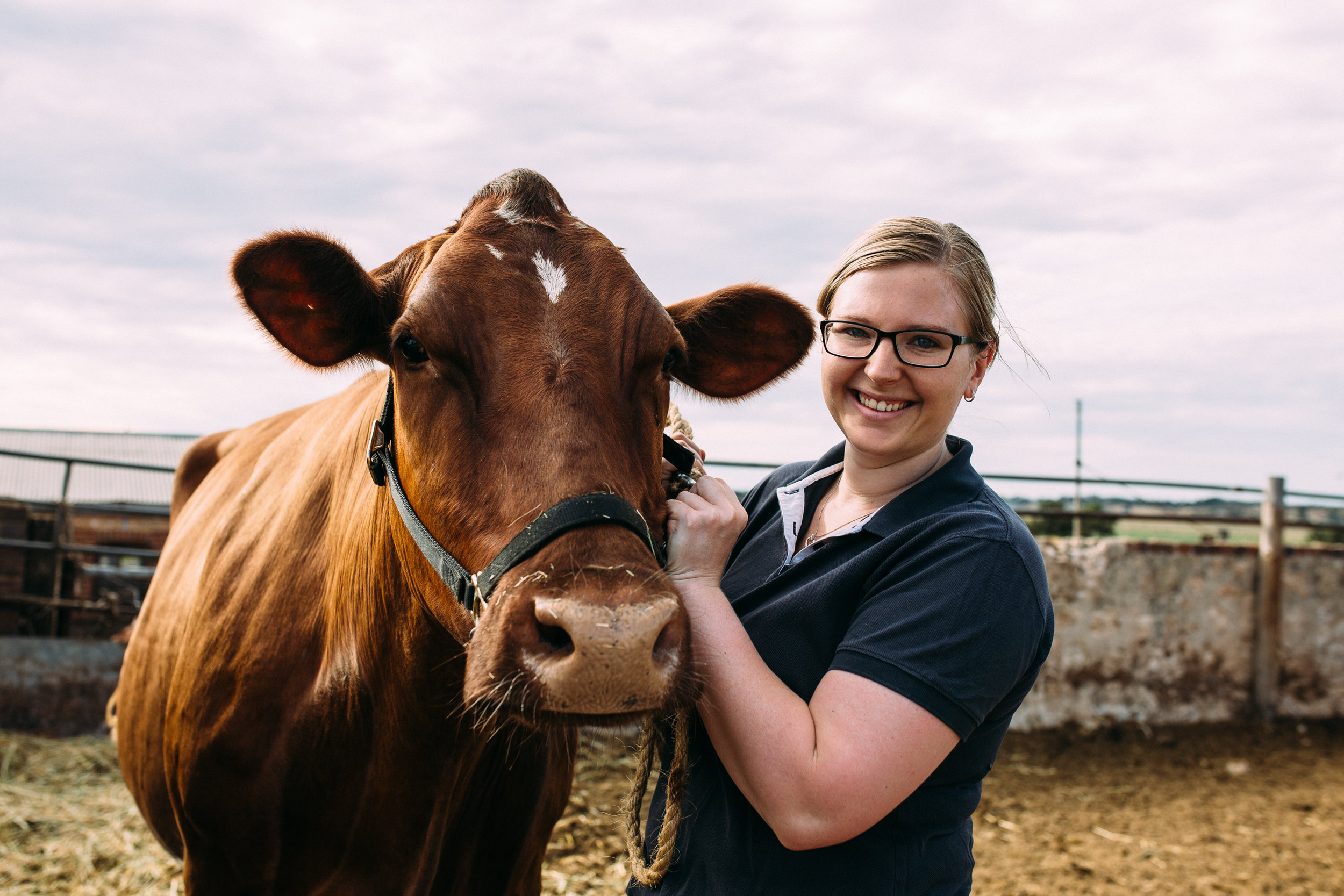 Emily with her favourite cow, Begonia, photographed by Catherine Forge, Murray Bridge, Source: Museums Victoria: https://collections.museumvictoria.com.au/items/2243754