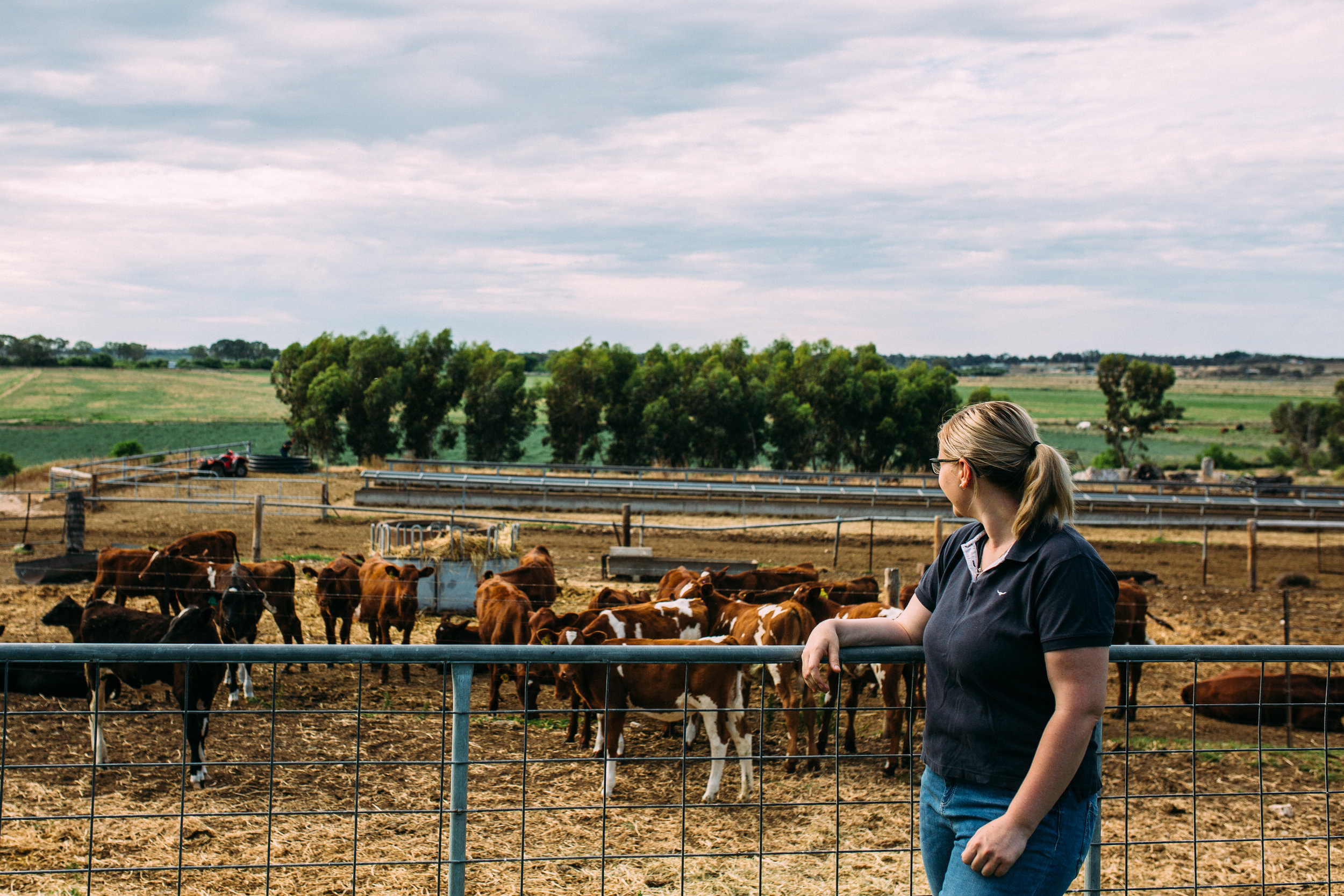 Emily looking over the farm, Murray Bridge, photographed by Catherine Forge, Source: Catherine Forge.