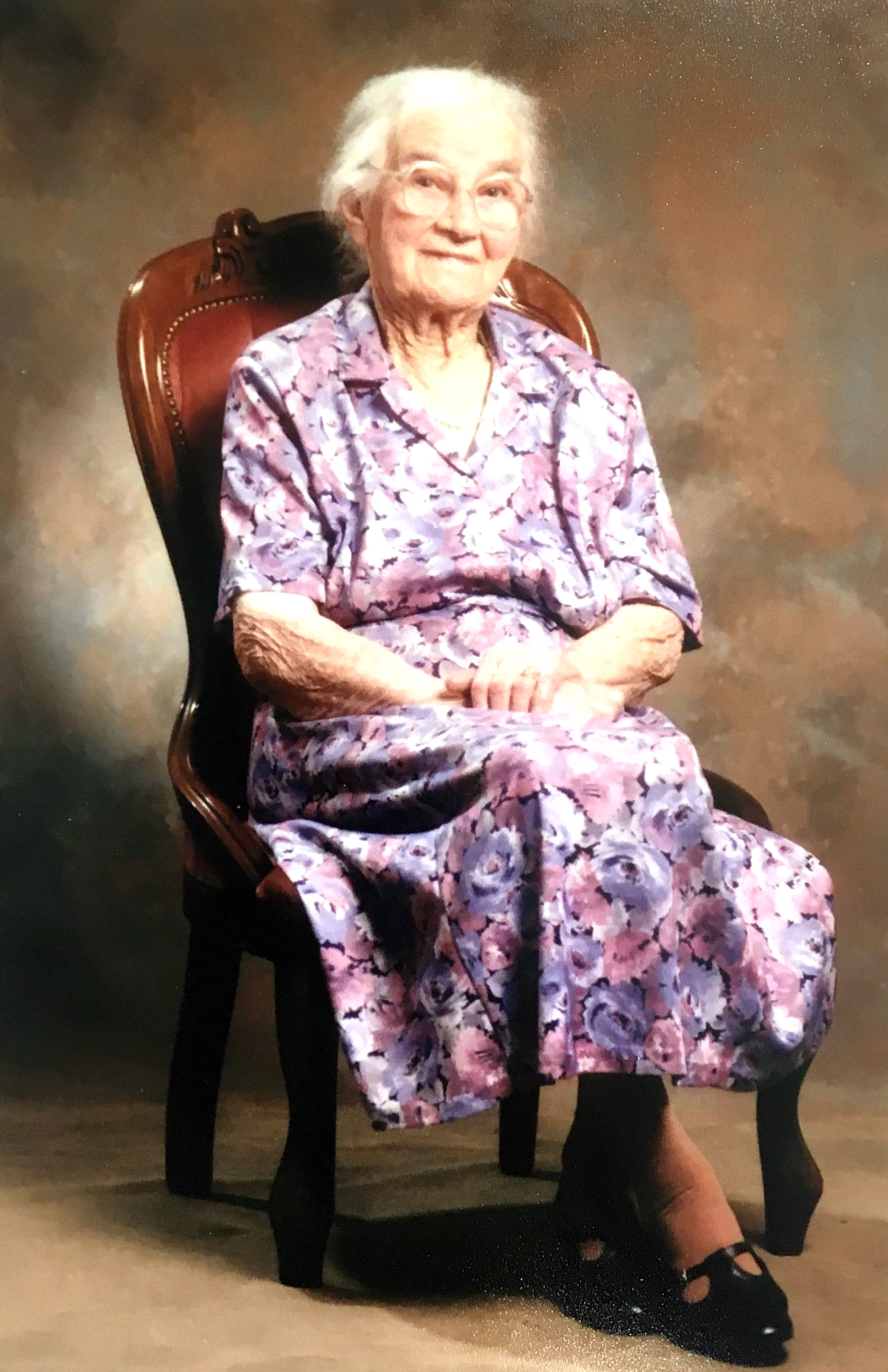 "Winnifred ""Minnie"" Galvin at 95 years of age, 1995. Photo: supplied by Aileen Spangaro."