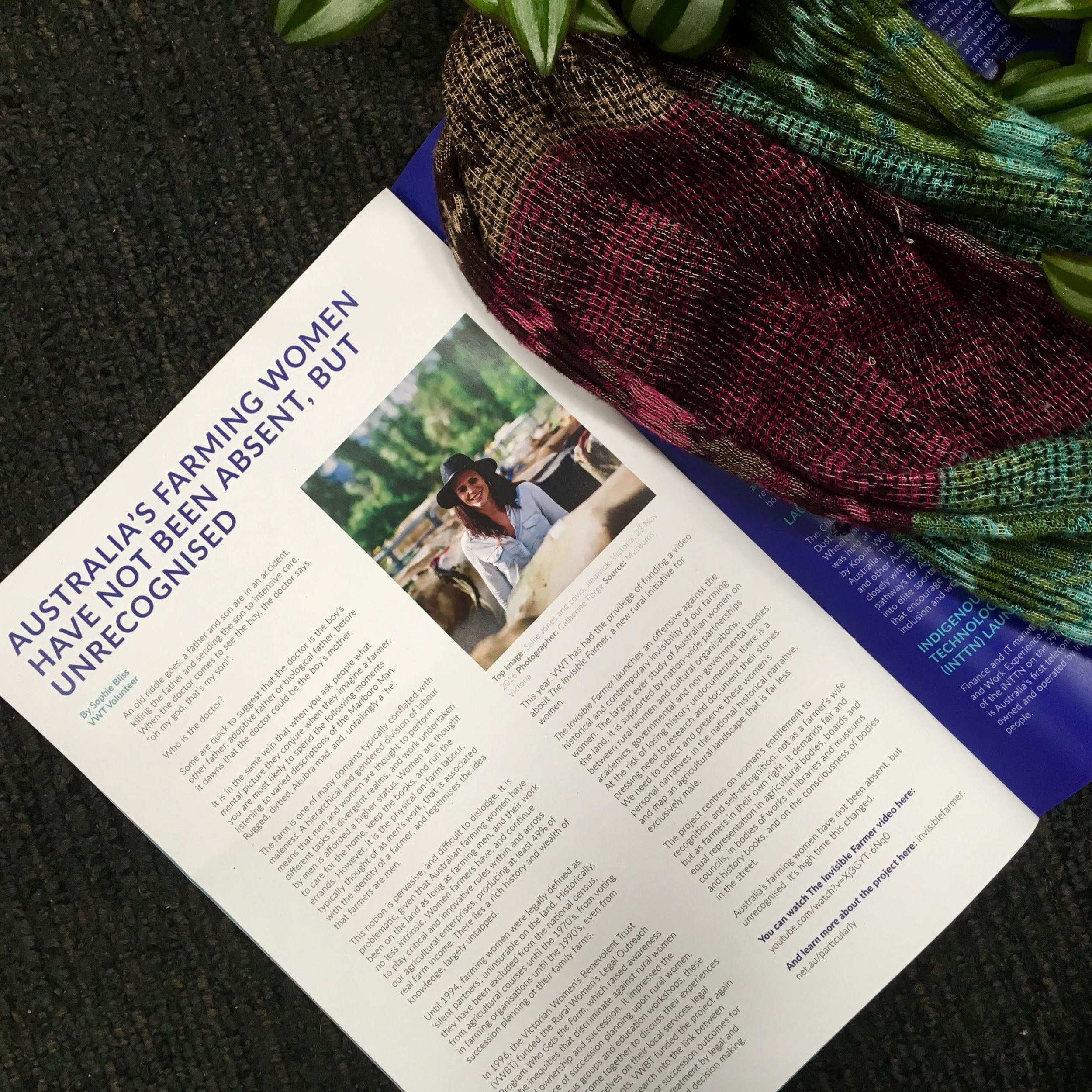 'Australia's Farming Women Have Not Been Absent, But Unrecognised', Victorian Women's Trust magazine, Winter 2017.