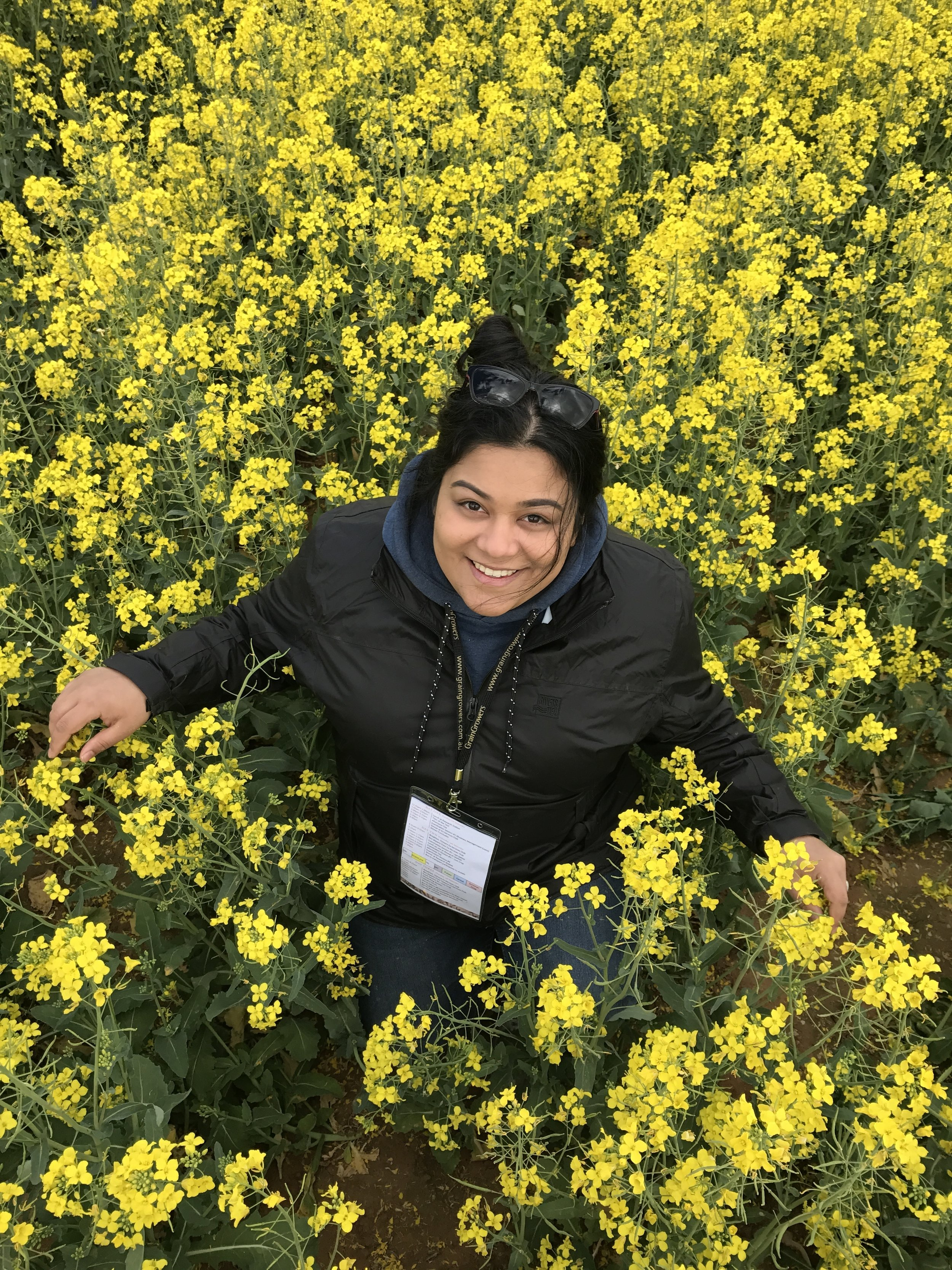 Rayali on a farm in Temora, New South Wales.