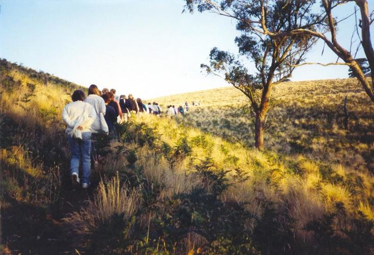 Women on a tour at the 1994 Glenormiston Women on Farms Gathering, Source: Museums Victoria.