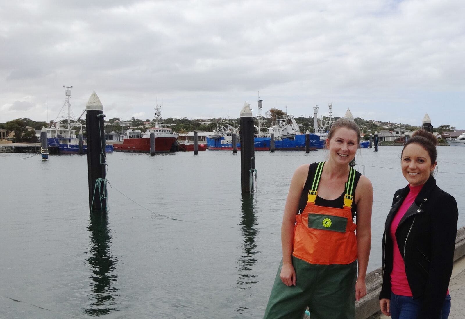 Claire Webber, a prominent woman in fishing. (Port Lincoln Marina. SA, 2014). Image supplied: Alex Thomas