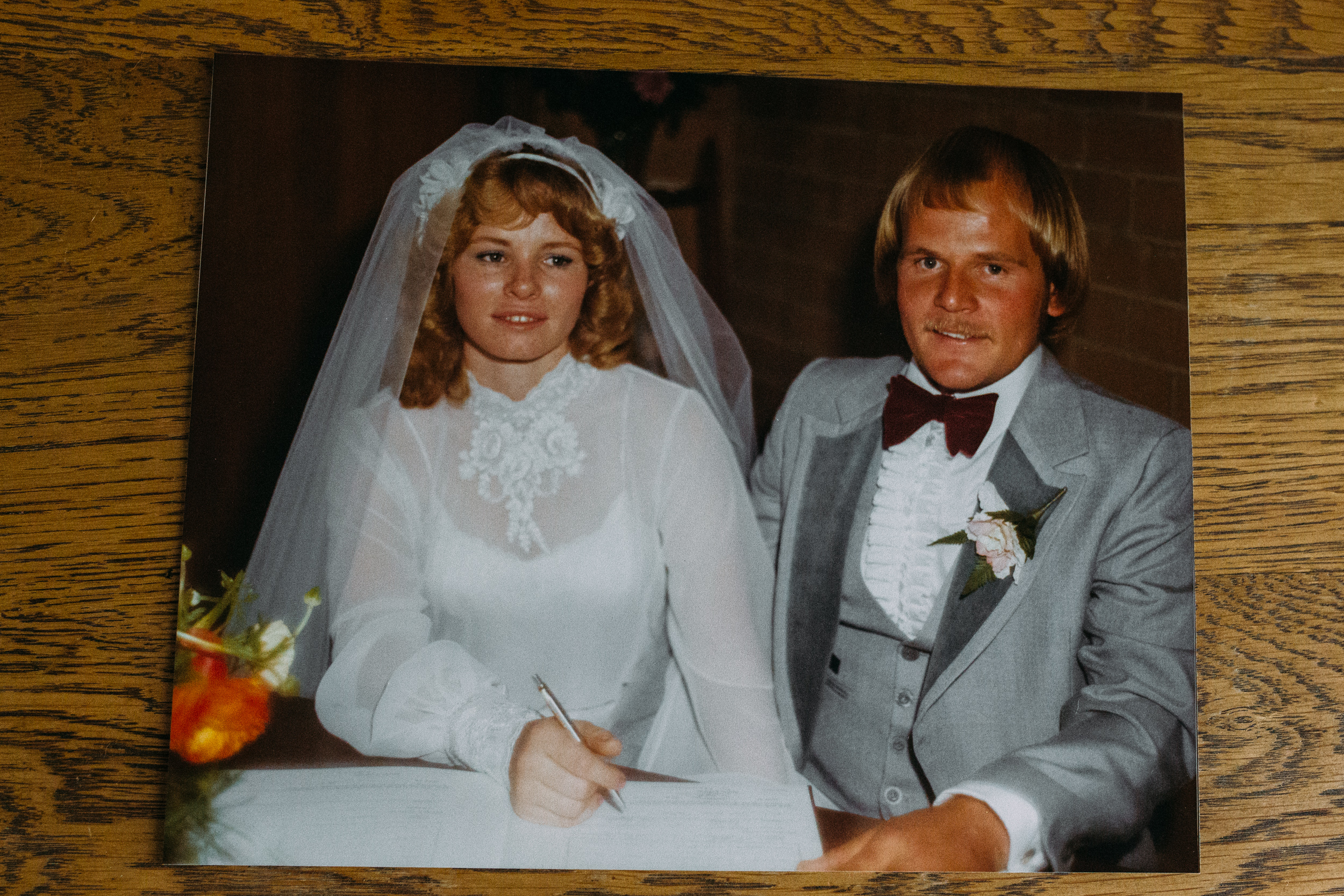 Sally and her husband Peter Hall on their wedding day, 1980, Image: supplied by Sally Hall.