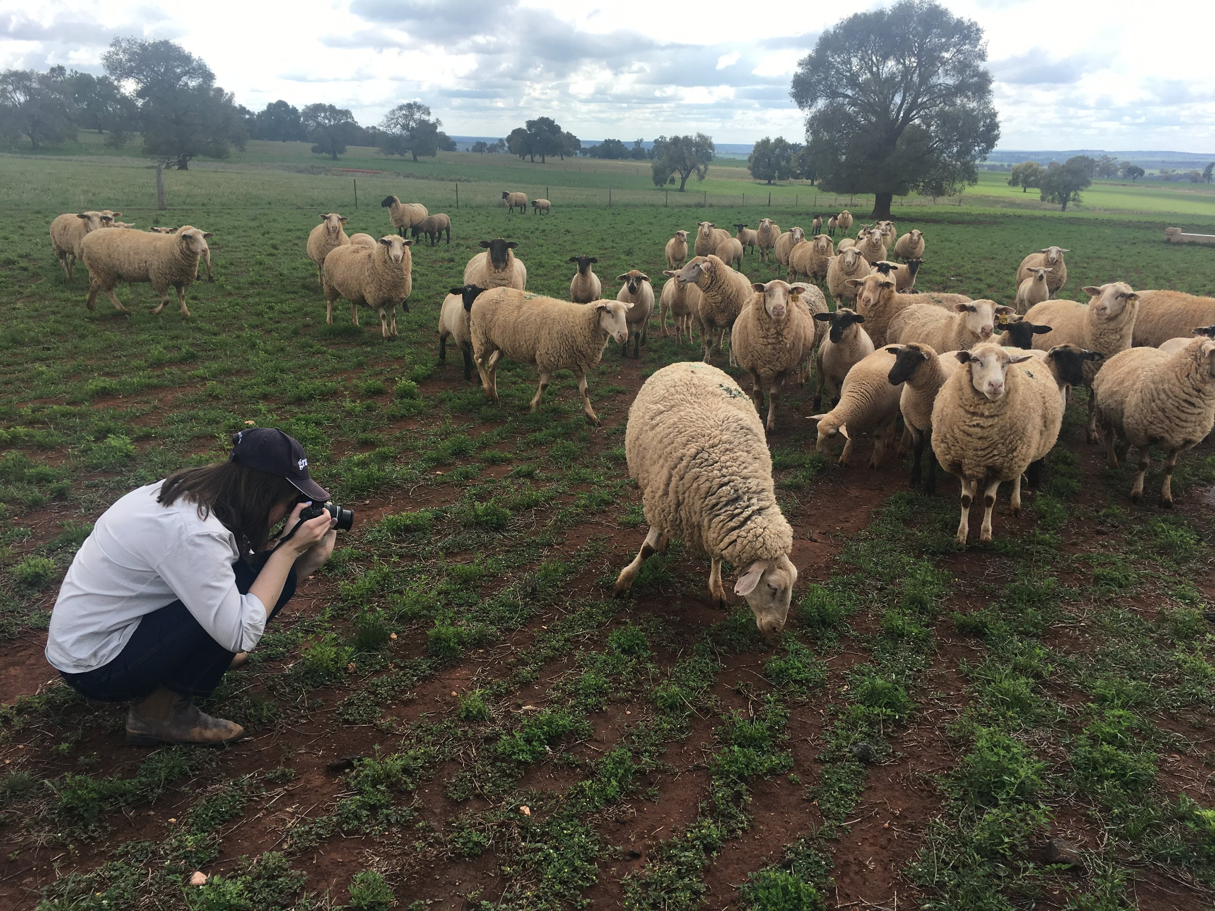 Benita Woodley taking photographs on her family's property. Image: Supplied.
