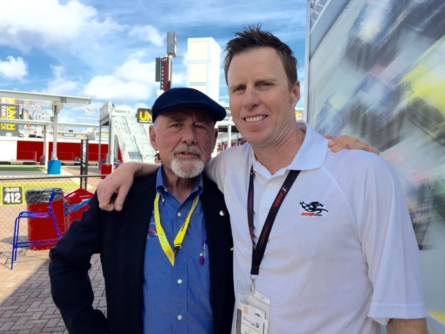 John Gorsline and Memo Gidley at Daytona. [Photo by Eddie LePine]