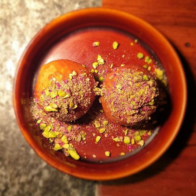 Turkish delight donuts  Brioche donuts filled with rose jelly and finished with pistachio and rose petal crumb  #billiehsupperwinebar