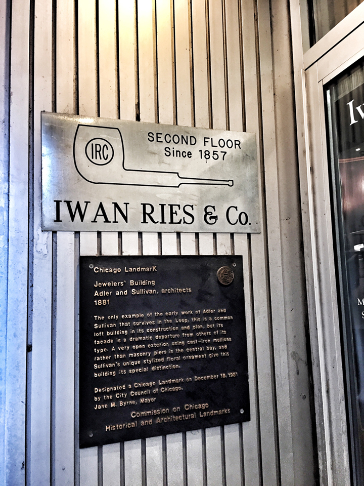 The placard says it all ... an old Sullivan and Adler building, deemed a landmark in 1981.
