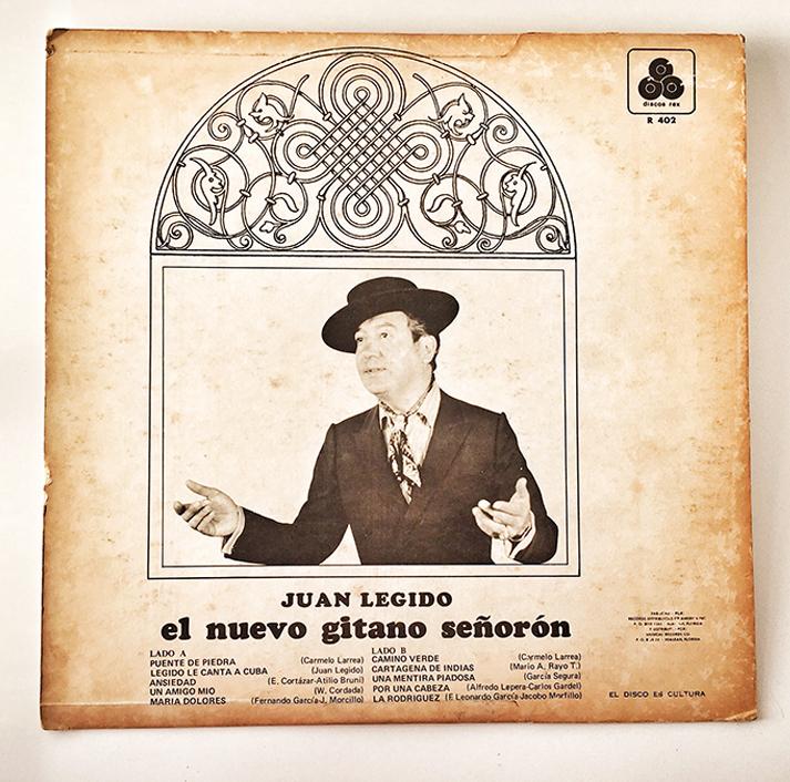 Juan Legido, Legido Le Canta A Cuba, back