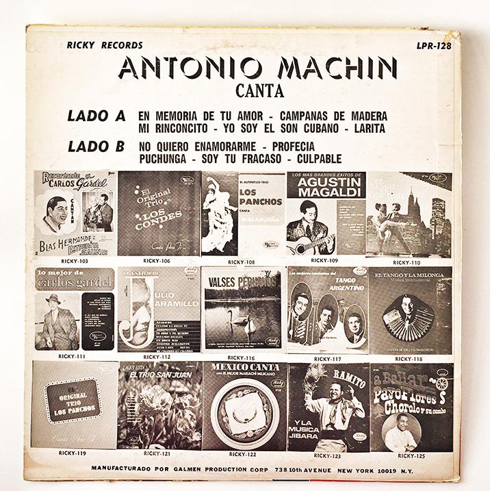 Antonio Machin, back cover
