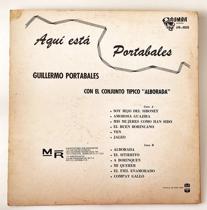 Guillermo Portables, back