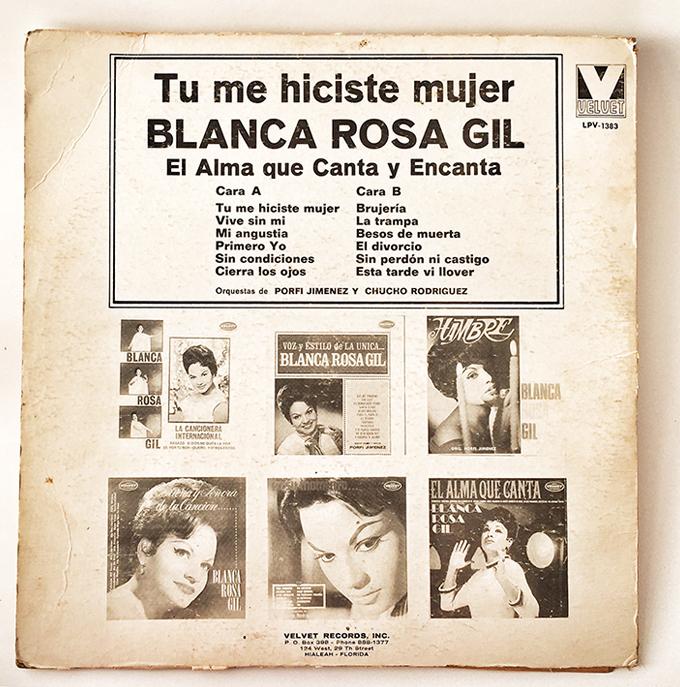 Tu Me Hiciste Mujer, Blanca Rosa Gil, back