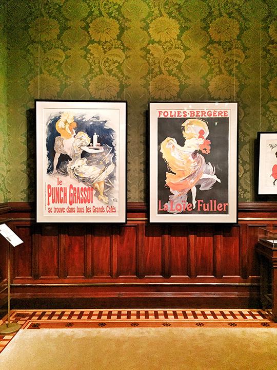 LEFT: Cheret, Le Punch Grassot, color lithograph, 1895. RIGHT: Cheret, Folies-Bergere - La Loie Fuller, color lithograph, 1893.