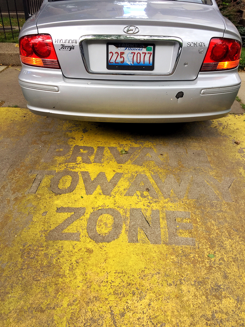 Private Tow Away Zone, Riiiiight