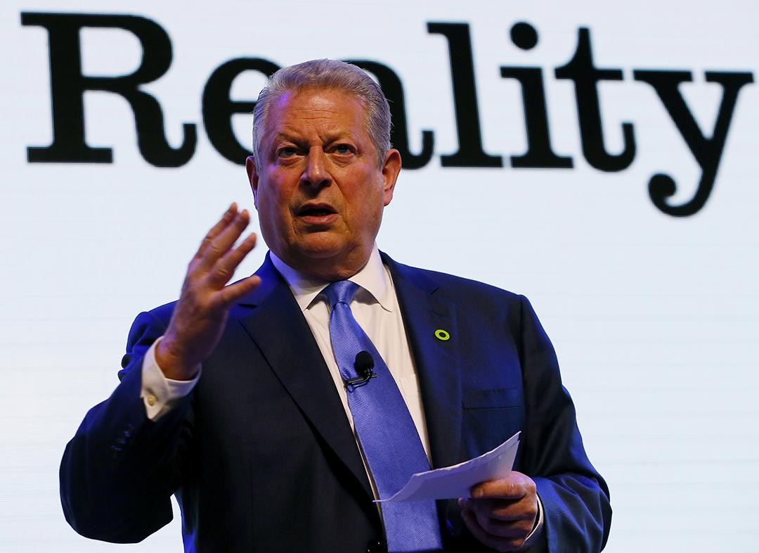 Al Gore's Green Ring Pin