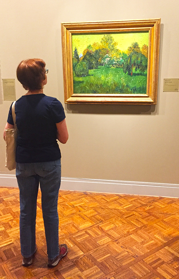 The Poet's Garden, 1888. Vincent Van Gogh. Oil on canvas. Sometimes I like random people in my photos just for scale.