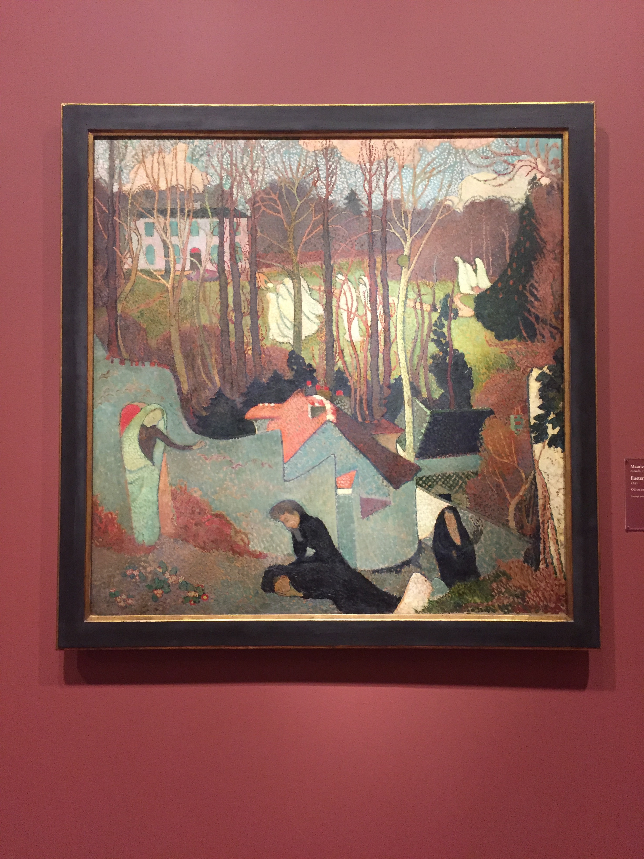 Easter Mystery, 1891, Maurice Denis. Oil on canvas. Wonderful use of green in the mid-ground. Winter is coming.