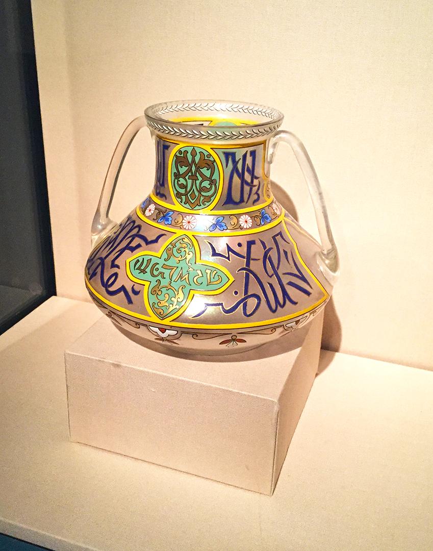 Vase, 1866/90. Fritz Heckert. Piechowice, Poland. Glass, polychrome enamel decoration.