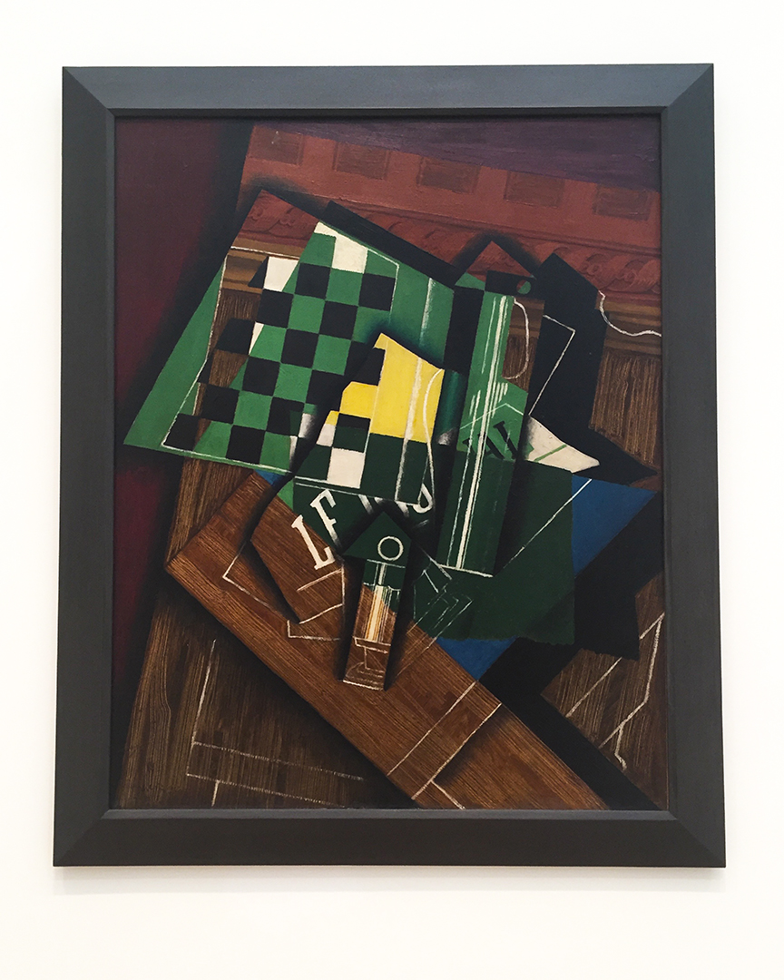 The Checkerboard, 1915. Juan Gris. Oil on canvas.