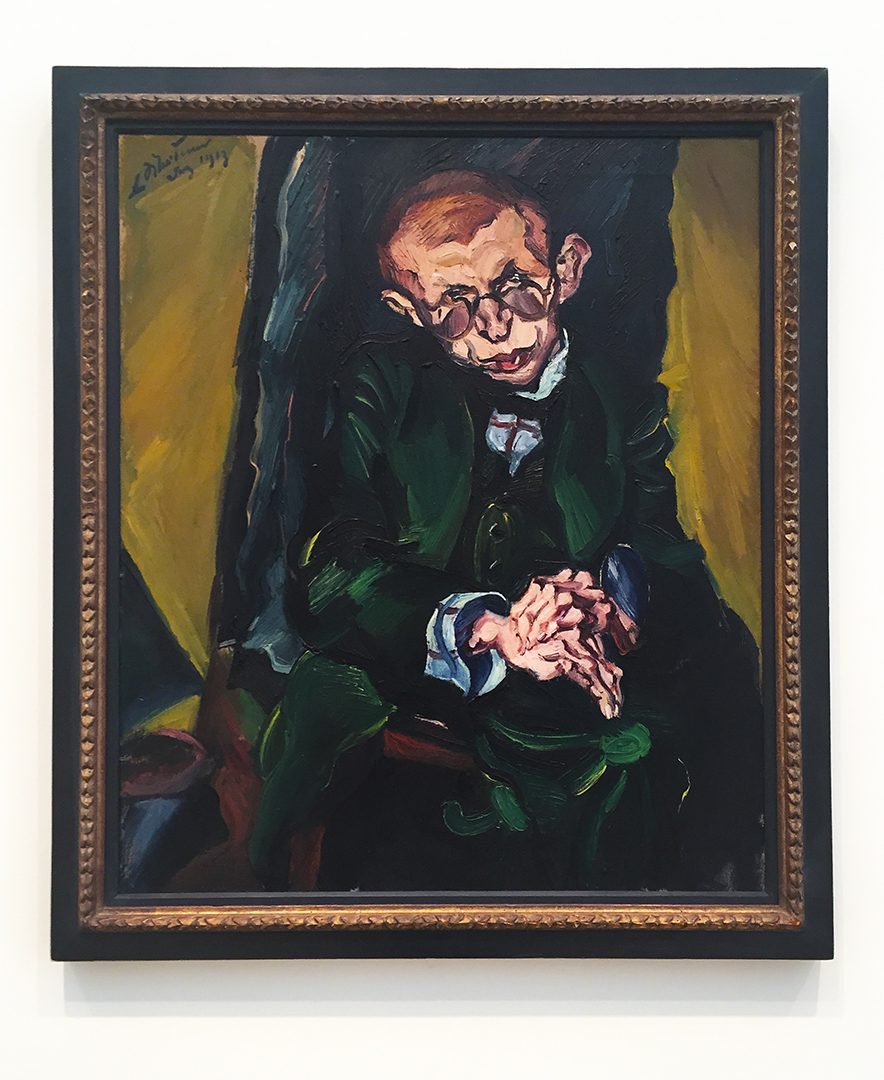Max Herrmann-Neisse, 1913. Ludwig Meidner. Oil on canvas. Thick brushstrokes give the impression that the sitter's jacket is a lush velvet material. Powerful portrait of poet and theater critic, Herrmann-Neisse.
