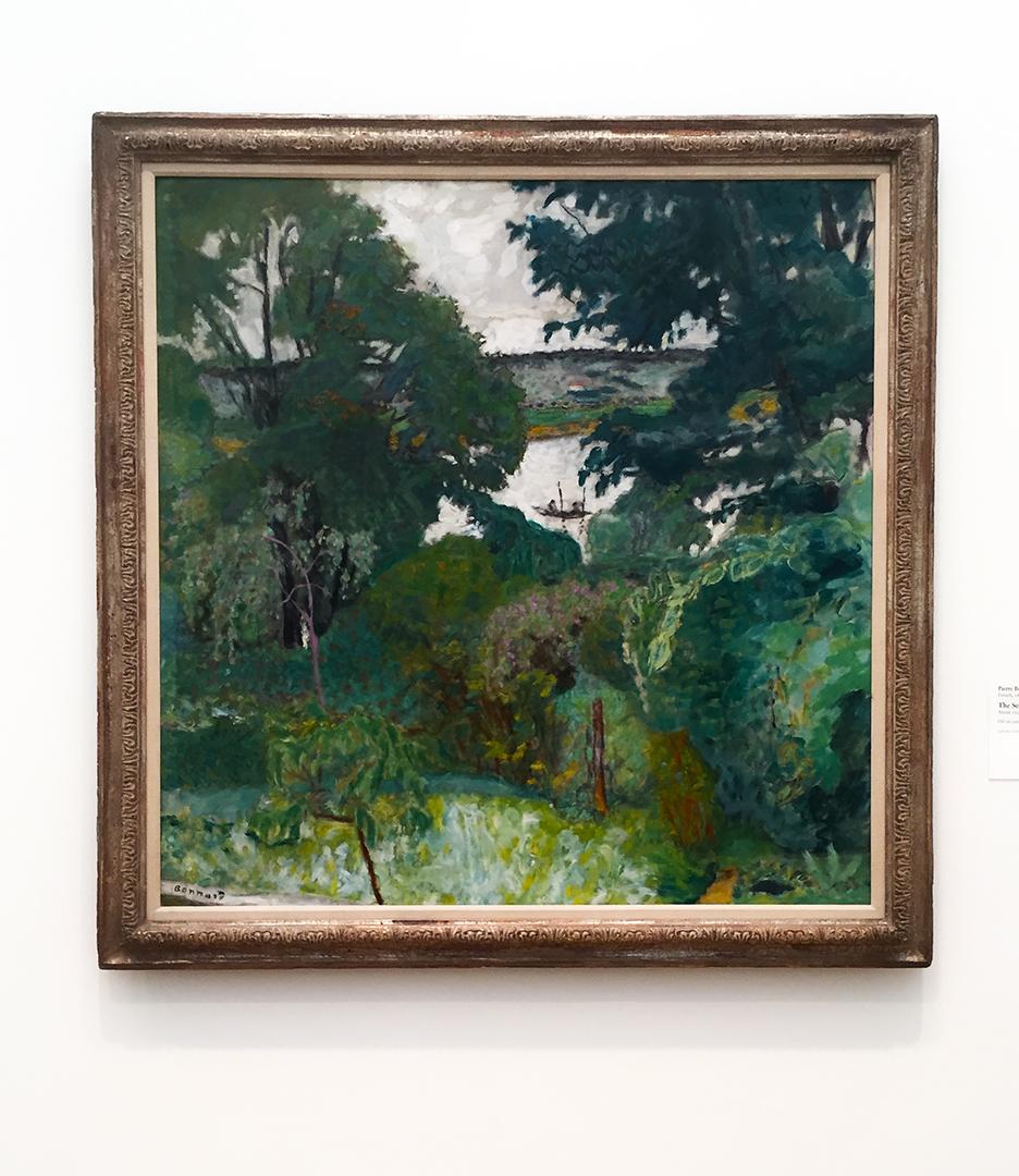 The Seine at Vernonnet, about 1930. Pierre Bonnard, oil on canvas.