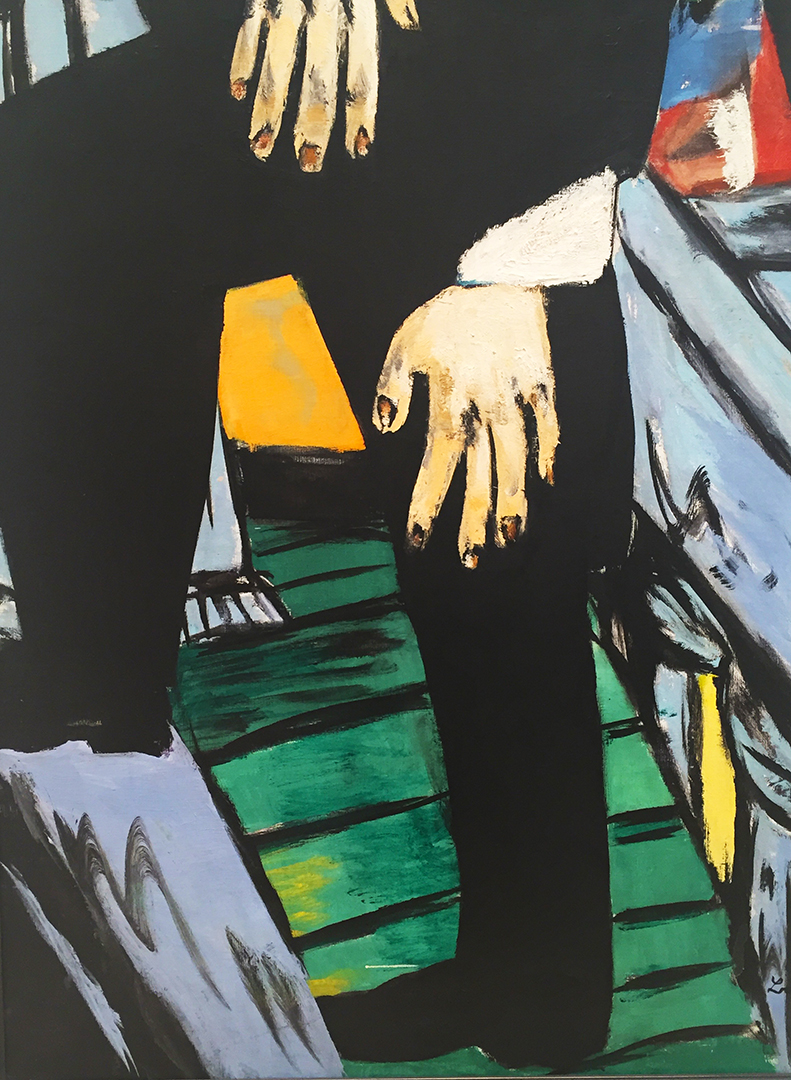 Detail of Max Beckmann's 'Self-Portrait'.