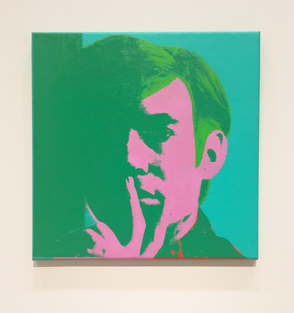 Self-Portrait, 1966. Andy Warhol. Acrylic, silkscreen ink and pencil on linen.