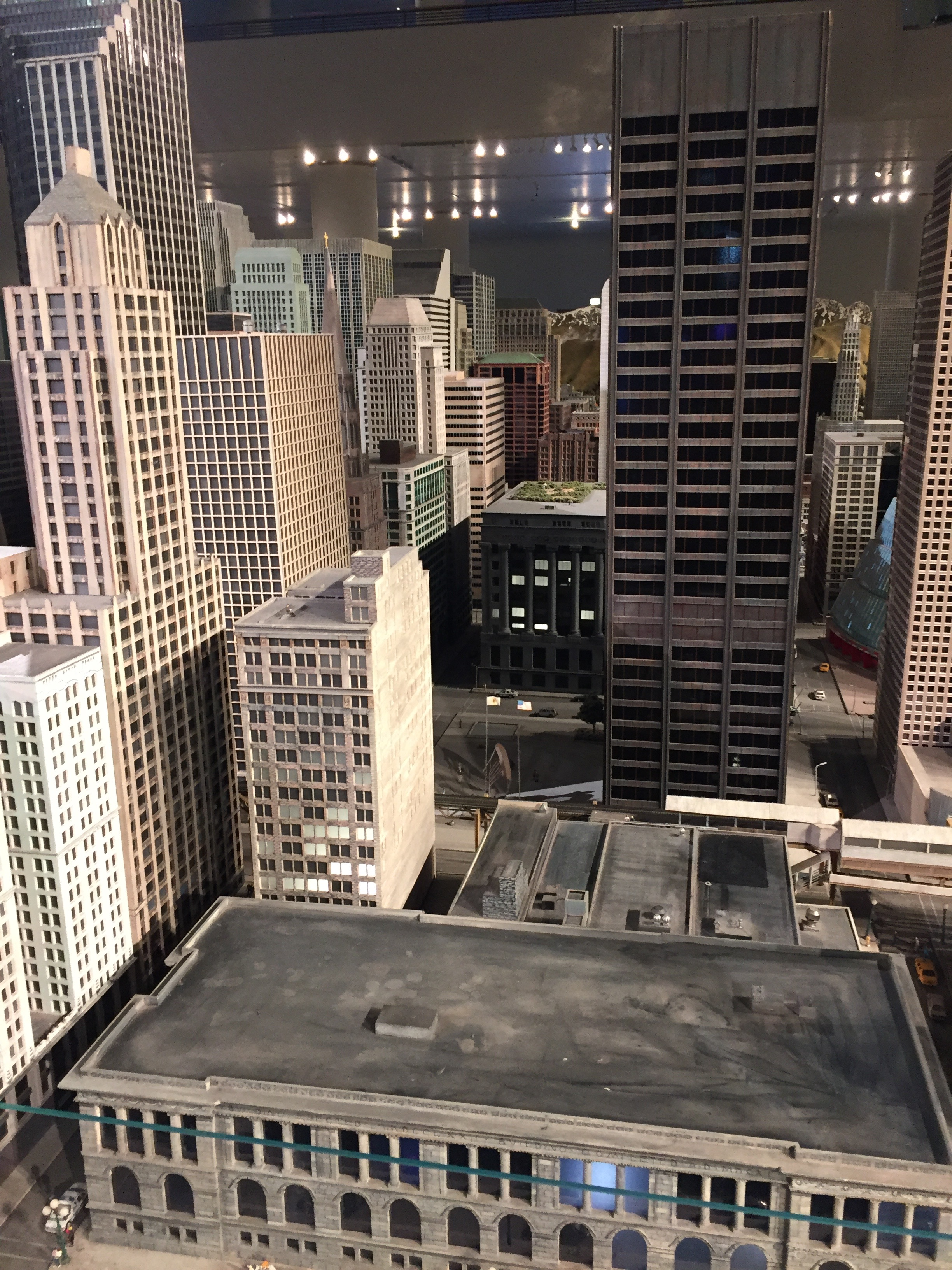 Oh gosh ... this is the small scale model of downtown Chicago at the Museum of Science & Industry. Naturally, I found the Picasso sculpture!
