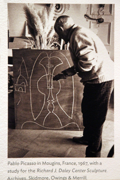 Historical photo of Pablo Picasso courtesy of Skidmore, Owings & Merrill and The Art Institute of Chicago.