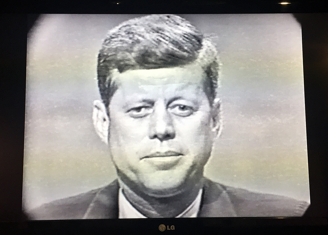 Presidential candidate, John F. Kennedy, 1960, Chicago.