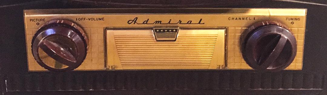 Admiral TV logo & dials