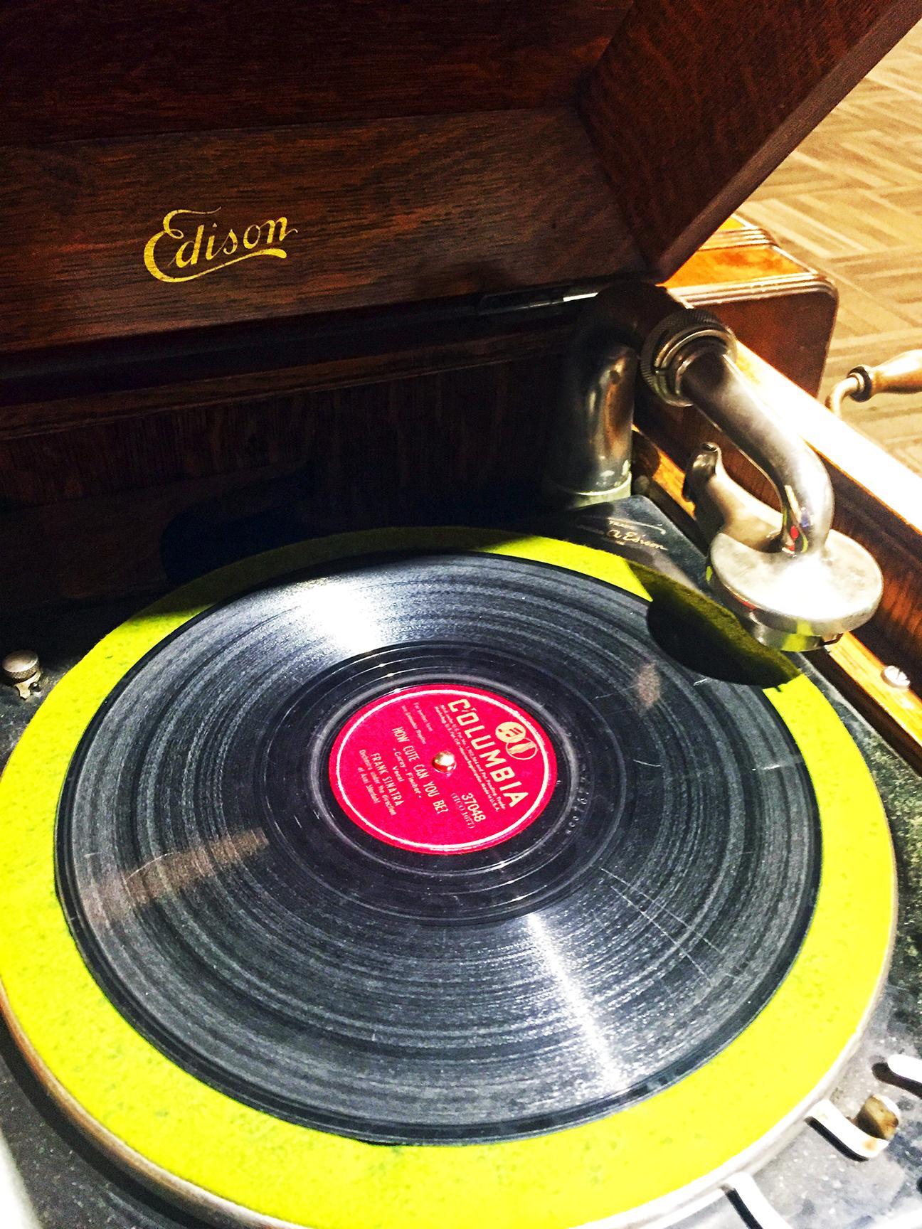 1940's Edison Record Player