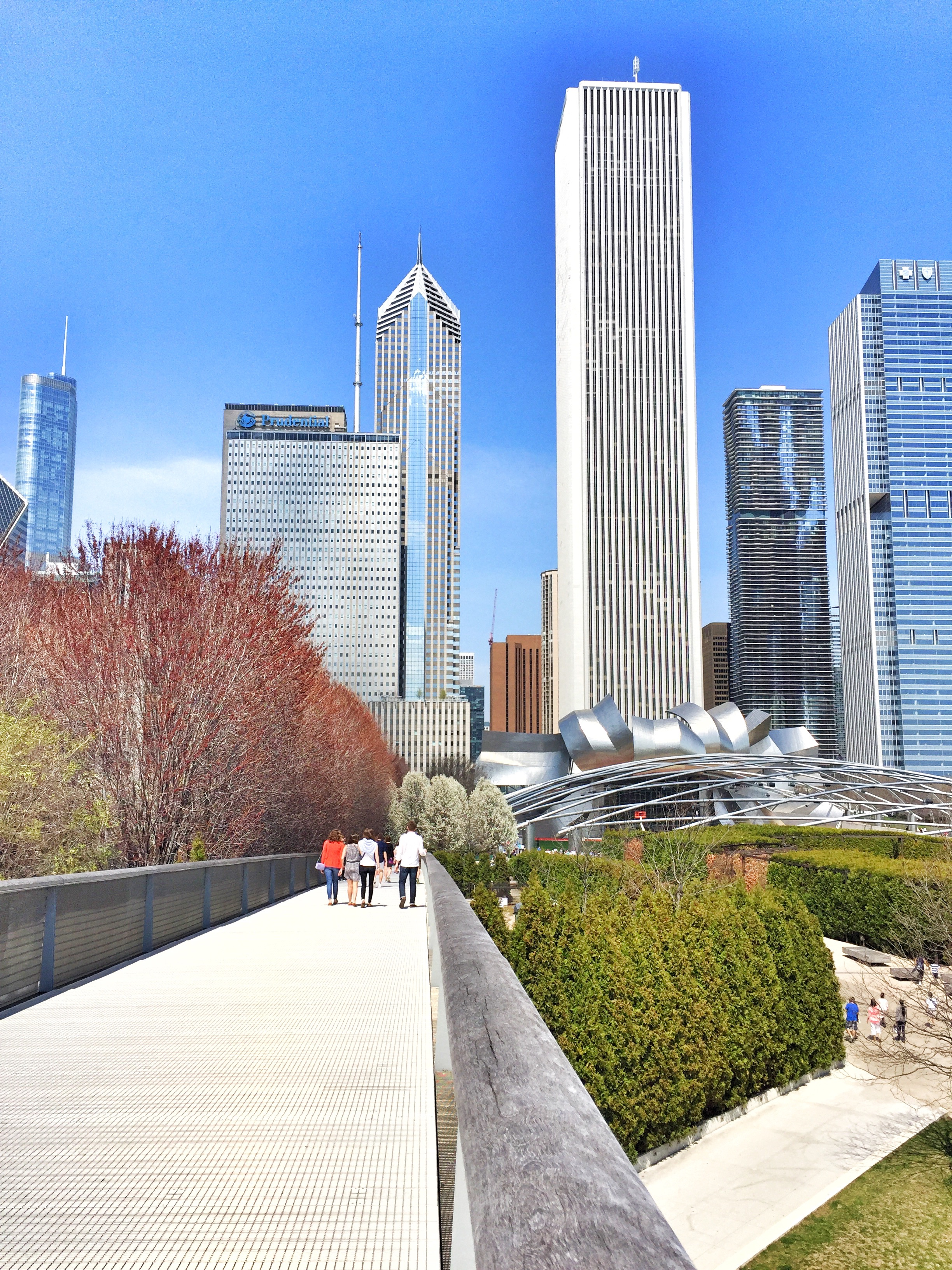 Sky Bridge facing North towards Millennium Park.