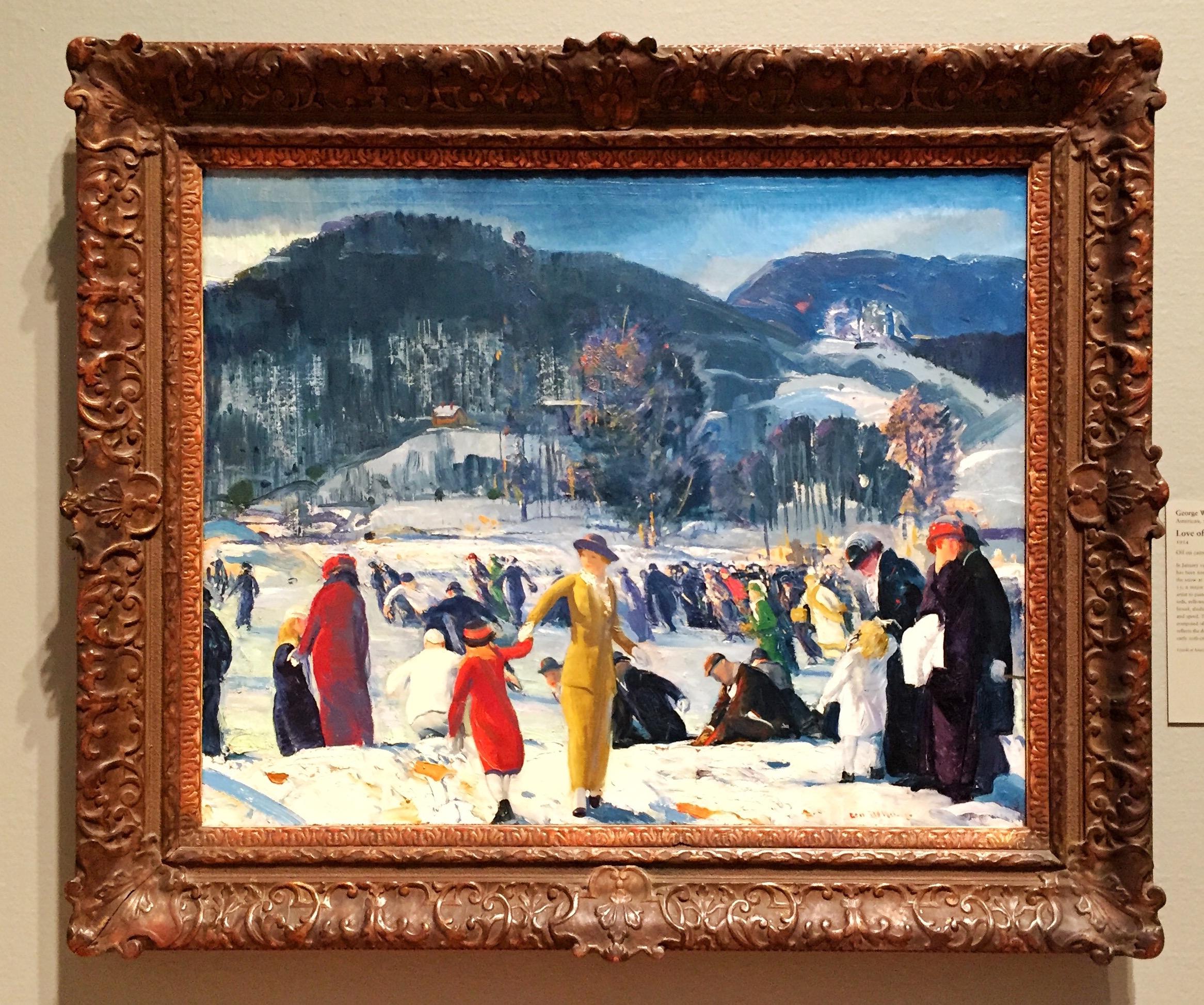 George Wesley Bellows, American, Love of Winter, 1914.