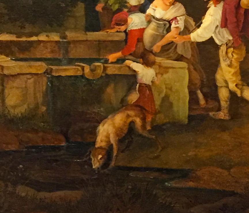 The Fountain at Grottaferrata (detail)