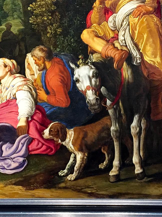 Saint John the Baptist Preaching (detail)