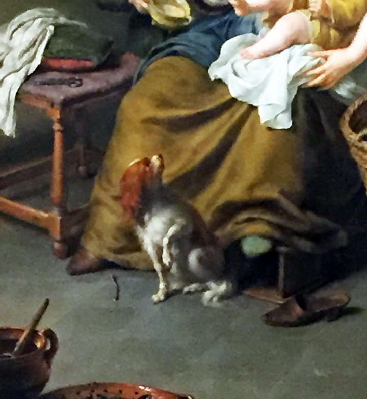 A Mother Feeding Her Child (detail)