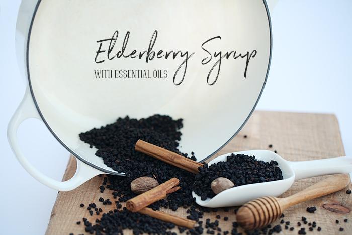 Elderberry Syrup w/ Essential Oils