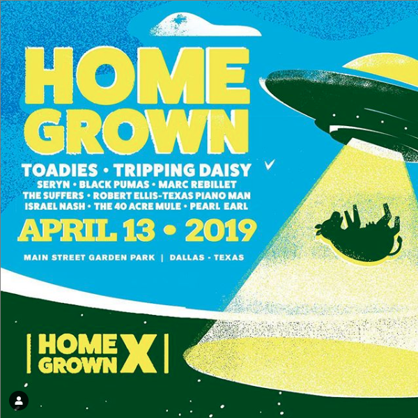 Early bird tickets for HOME GROWN festival available now!!