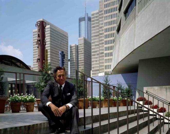 John Portman at the Peachtree Center in Atlanta (image courtesy of the Washington Post)