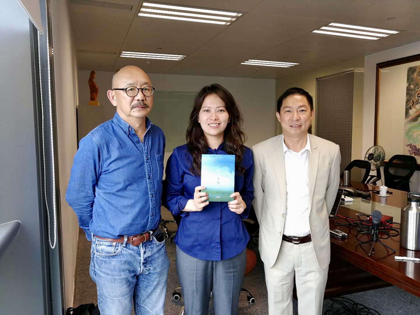 Prof. Chung (Left), me and Mr. Li in Zhuhai, China in March 2018