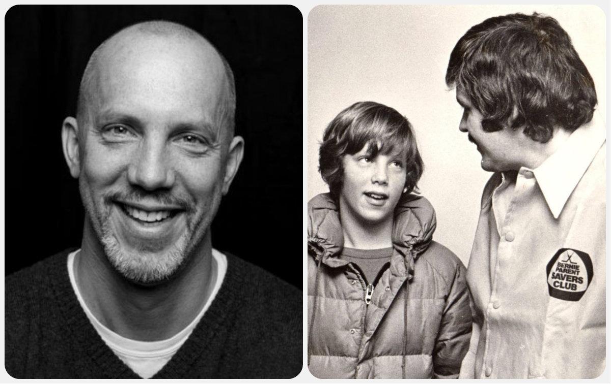 Left: My hero, Matt Lindley. Right: Matt meeting his hero  Bernie Parent.