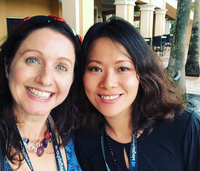 Joanna and I at Podcast Movement in Orlando, Florida, August 2019