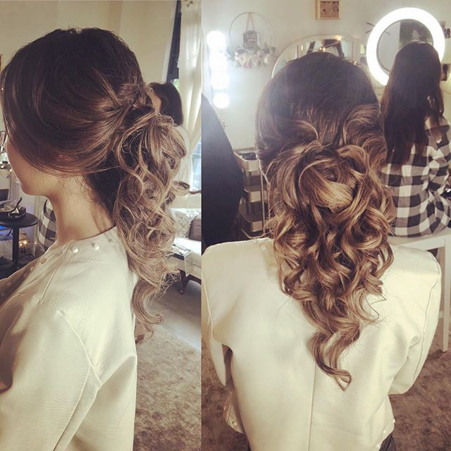 Hair by me!  Available for any event ❤️ @fayesmithagency . . . #hair #grad #beauty #color #updo #bridal #love #celebrate #wedding #glam #salon #nails #makeup #hair #vancouver #burnaby