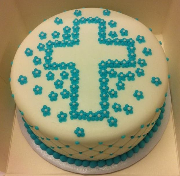 Cross with Buttercream   Flowers