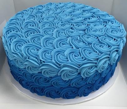 Blue Ombre Rosettes