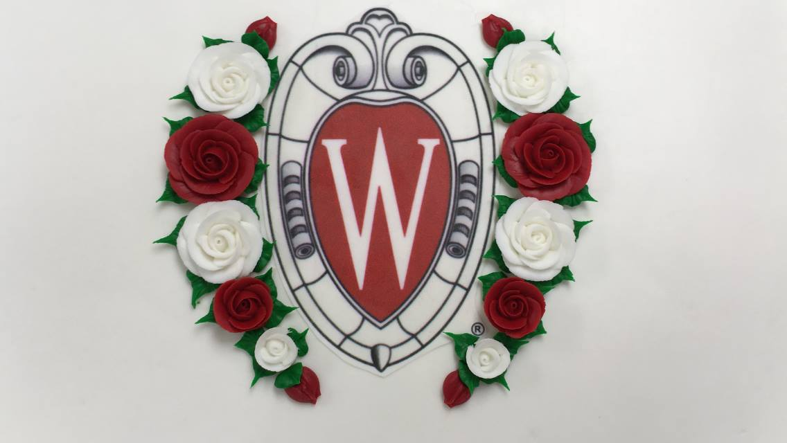 Academic Crest framed in roses