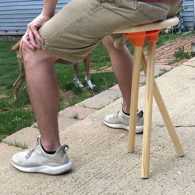 More form studies with these stool brackets! It stands! The leg attachment needs a little work still, but it works.